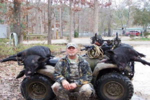 Andy williams Boarmasters team member with hogs